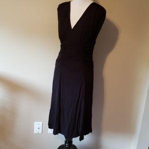 V neck little black dress